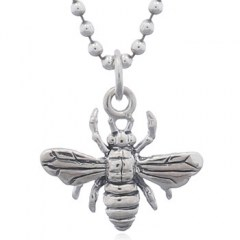 Bumble Bees Sterling Silver 925 Pendant