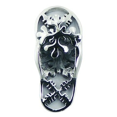 Sterling Silver Pendant Sandal Design with Snowflakes