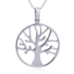 Shining 925 Sterling Silver Autumn Tree Pendant