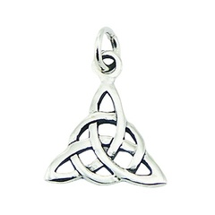 Small Celtic Sterling Silver Pendant Celtic Knot Triangle
