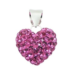 Crystal Heart Pendant with Czech Crystal Elements
