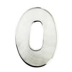 Open Oval Mother Of Pearl Pendant Sterling Silver Framed