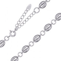 Silver 925 Shells Cowrie Linked Choker Necklace