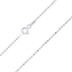 Octagon Cube Bead Silver Chains
