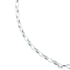 Sterling silver adjustable rollo chain 5mm gauge
