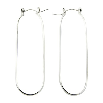 Stretched silver wirework earrings
