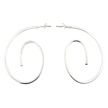 Contemporary twirls silver earrings