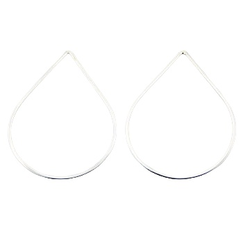 Minimalistic design open drop polished sterling silver stud earrings