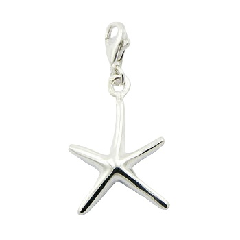 Casted nautical starfish silver charm