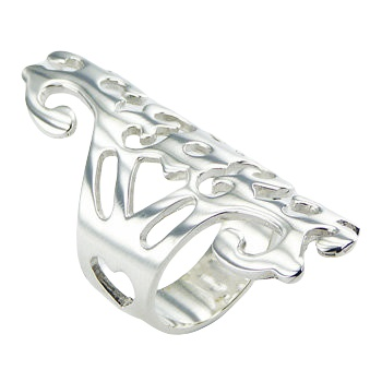 Exquisite design free shaped silver ring